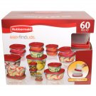 Rubbermaid 60-Piece Easy Find Lid Food Storage Container Set NEW