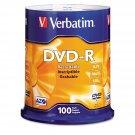 Verbatim Recordable DVD-R Discs, 4.7GB, 16x,  (100 ct.) BRAND NEW