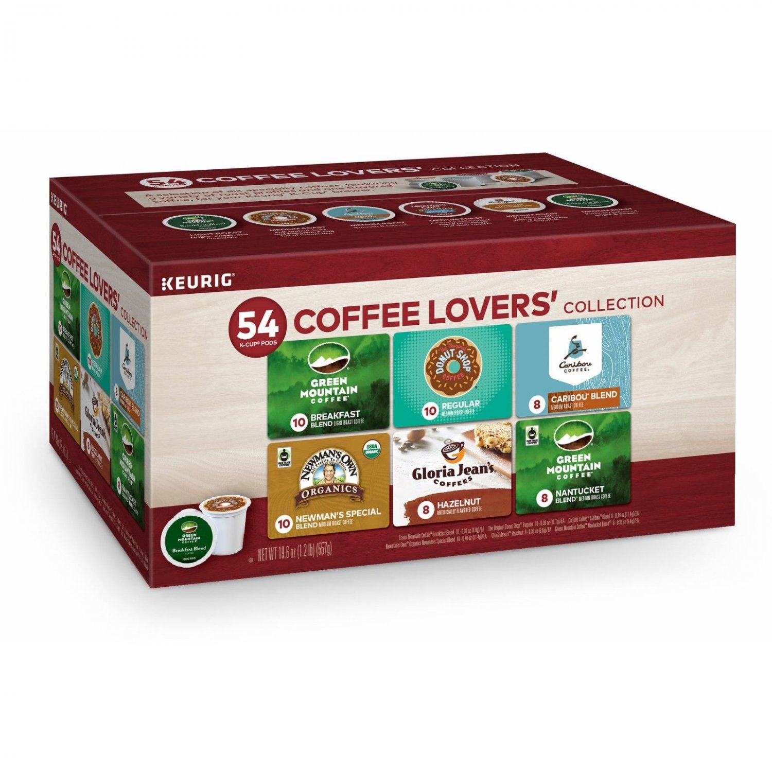Green Mountain Coffee Lovers Variety Pack, 54 ct BRAND NEW