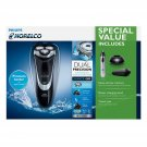 Philips Norelco Shaver 4300 + Nose & Ear trimmer w/ shaver charging stand NEW