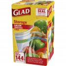 Glad Storage 1-Gal. Plastic Zipper Bags, 36-Count, 4-Pk   BRAND NEW