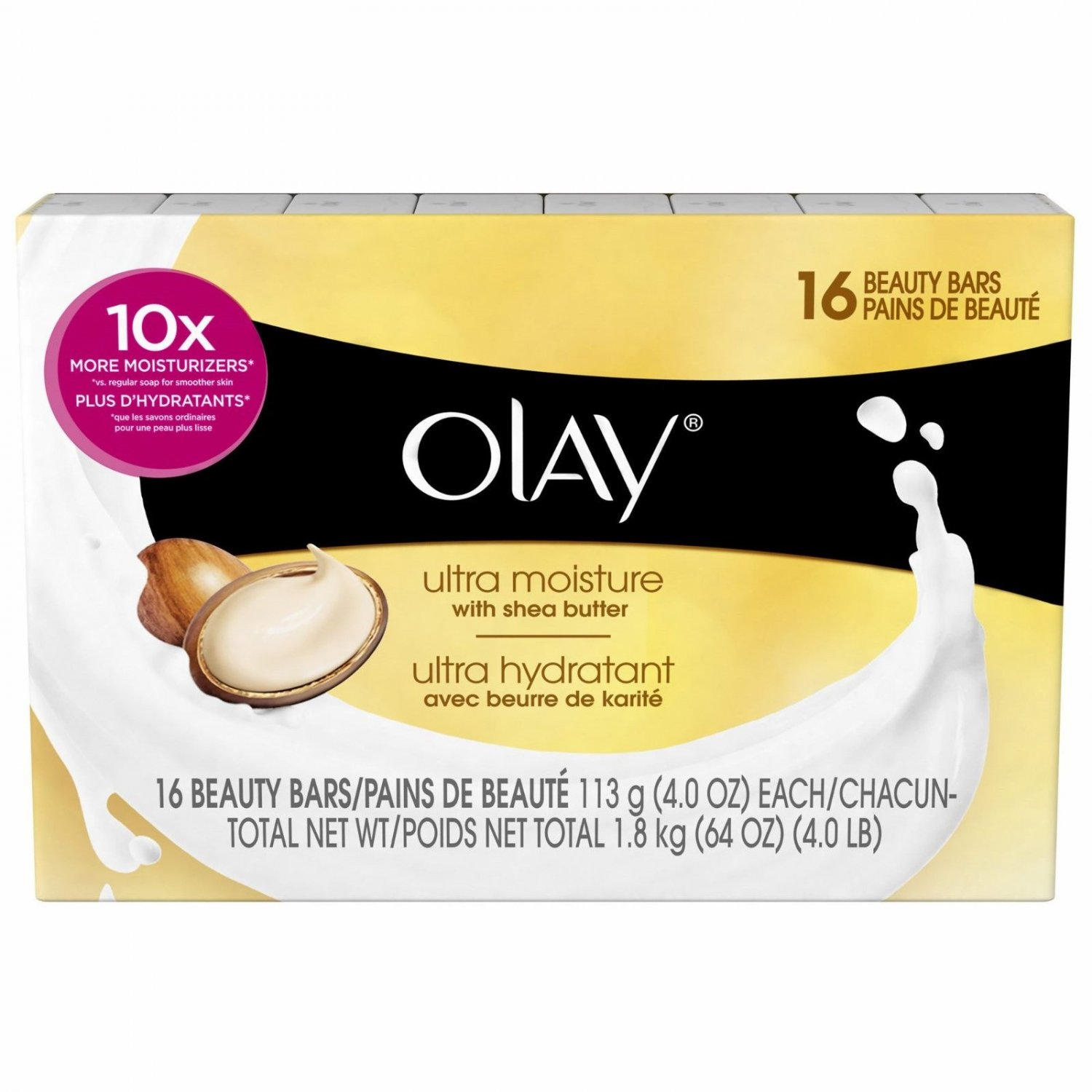 Olay Ultra Moisture Beauty Bars Soap, 16 ct./4 oz.