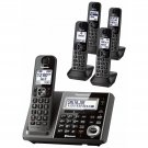 Panasonic Link2Cell DECT 6.0 5-Handset Cordless Answering & Bluetooth KX-TG585SK