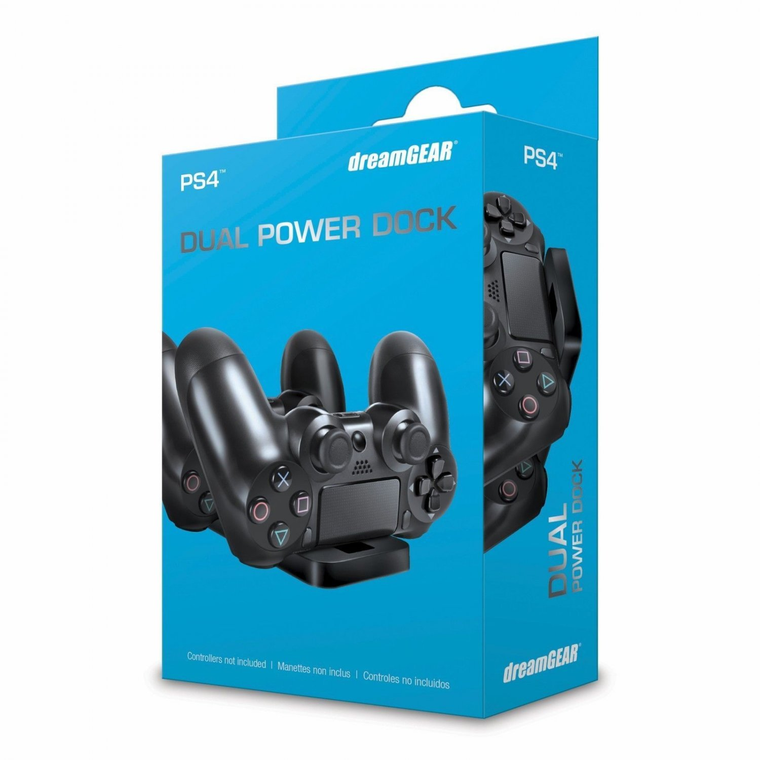 dreamGEAR PlayStation 4 Dual Power Dock Controller Charger PS4 BRAND NEW