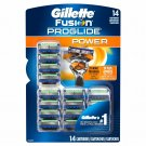 Gillette Fusion ProGlide Power Refills with MicroComb, 14 Count NEW