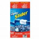 Ziploc Slider Storage Bags, Gallon Size, 120 ct