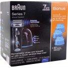 Braun Series 7 Pulsonic Shaver with Bonus Refills BRAND NEW