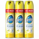 Pledge Lemon Clean Furniture Polish, 3 pk./14.2 oz. NEW & FREE SHIPPING