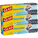 Glad Press'n Seal Food Wrap, 140 Square Foot Roll, 3 Pack