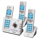 VTech DECT 6.0 3-Handset Cordless Phone Digital Answering System DS6722-3 NEW