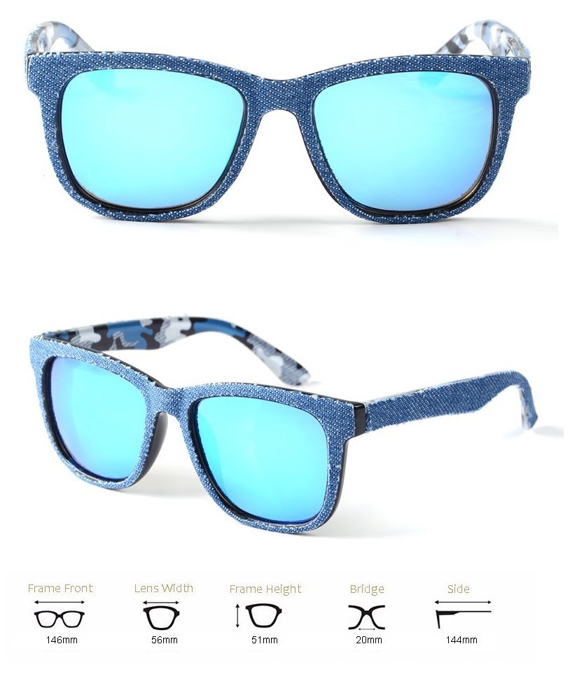 new 2016 sunglasses blue mirror lens
