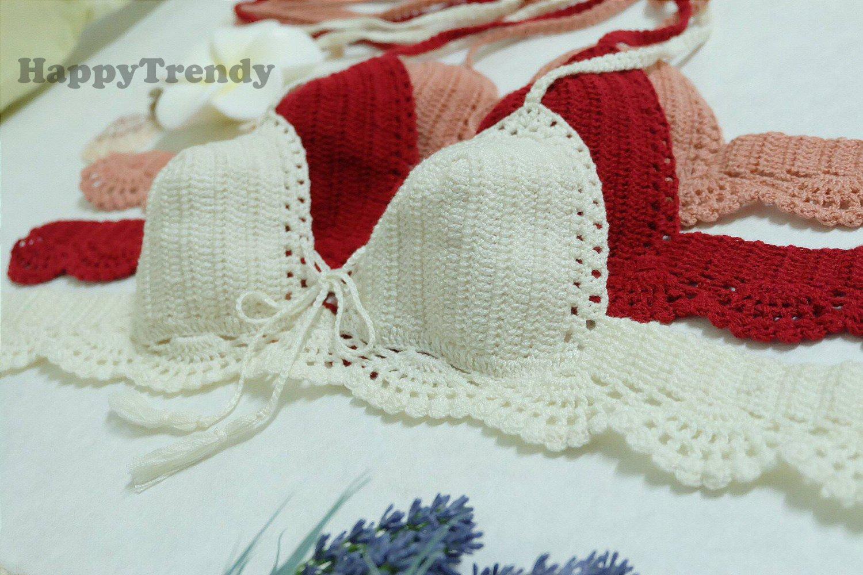 ST002 Crochet Bikini top, DIY Bikini, Handmade Bikini top - FREE SHIPPING