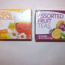 Greenbrier International Herbal Chamomile Caffeine Free and Assorted Fruit Te...