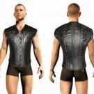 Genuine Leather Men Warrior Sumarai Corset Steel Bonned Armour Larp Gothic Punk