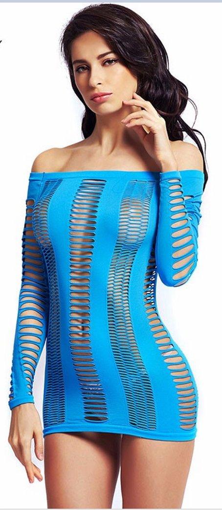 Ladies Sexy Hot Fishnet Chemise Bodysuit Women Mini Dress Erotic Lingerie Body stocking ITC377.