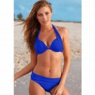 2016 Sexy Women Bikini Swimsuit Push Up Vintage Bathing Suit Halter Top Plus Size Swimwear ITC379.