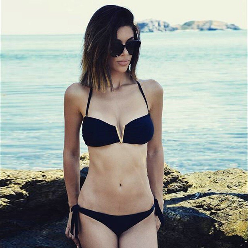 2016 Women Bikini Full-Lined Floral Swimsuit Mild Push-up Molded Foam Padding Bikini Set ITC380