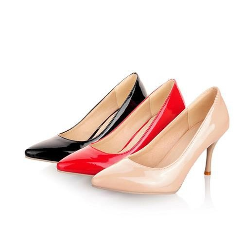 Plus Size 34-46 Women's Pumps High Heels Thin Heel  Classic White Red Beige Sexy  ITC383.
