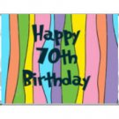 Trendy 70th Birthday Miniature Candy Wrappers Printable DIY