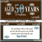 Aged To Perfection 50th Birthday Candy Wrappers Printable DIY