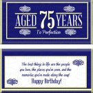 Milestone 75th Birthday Candy Wrappers Printable DIY