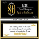 Milestone 80th Birthday Candy Wrappers Printable DIY