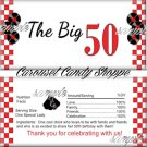 The Big 50 Fabulous 50's Birthday Candy Wrappers Printable DIY