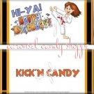 Kickin Karate Girl Birthday Candy Wrappers Printable DIY