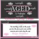 Aged To Perfection Birthday Candy Wrappers Printable DIY