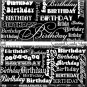 Black Word Art Happy Birthday Candy Wrappers Printable DIY
