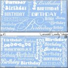 Lt Blue Word Art Happy Birthday Candy Wrappers Printable DIY