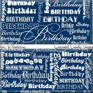 Blueberry Blue Word Art Happy Birthday Candy Wrappers Printable DIY