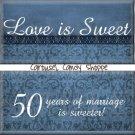 Love is Sweet 50th Anniversary Candy Wrappers Printable DIY