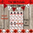 I Do BBQ Cupcake Toppers Party Printable DIY