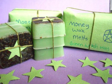 Money spell wax melts, herb wax melts,