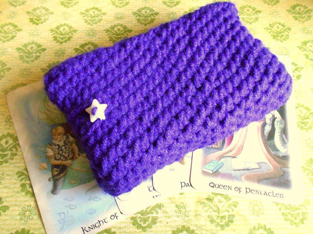 purple Tarot deck holder, tarot bag, tarot card bag, tarot deck holder