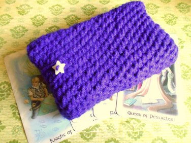 purple Tarot deck holder, tarot bag, tarot card bag, tarot deck holder