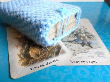 Light blue tarot deck bag, tarot deck holder, tarot deck accessories