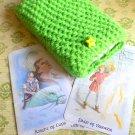 Green tarot deck holder, tarot deck protector, tarot deckaccessories