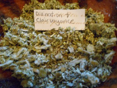 Herbal Incense Clairvoyance and Divination incense for spell work, witchcraft supplies