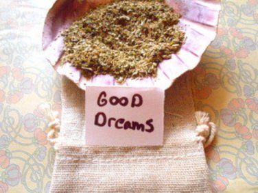 Herb dream pillow, herb pouch, witchcraft supply, dream pillow