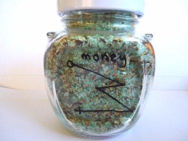 Money draw bath salts, money spell salts, witchcraft supplies