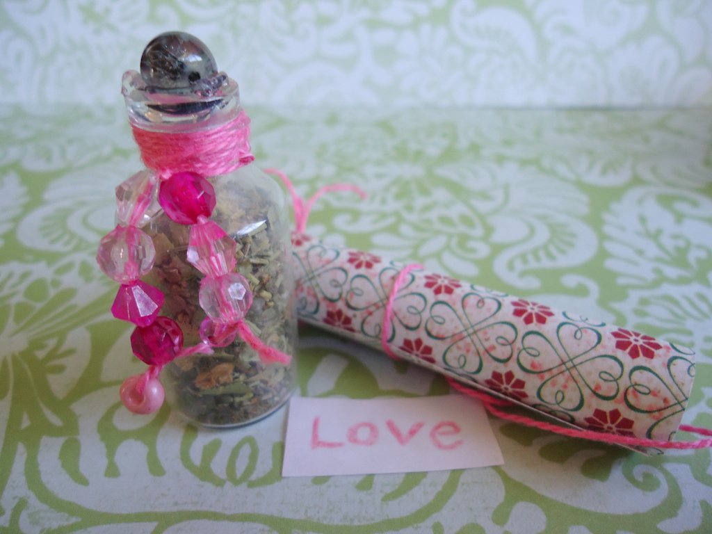 Spell Bottle emotional love written spell included easy spell to work herbal spell bottle