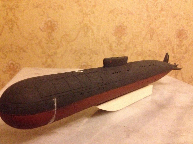 1:350 Soviet/Russian Papa class fastest submarine complete model