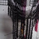 Crochet beaded cardigan with silver beads is great for casual wardrobe.