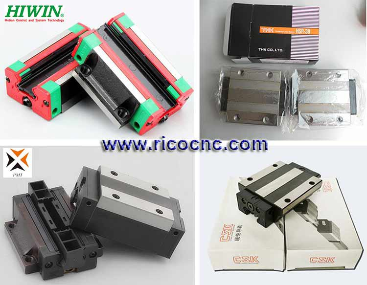 Linear Guide Rail Blocks Cage Carriages For CNC Router Linear Guideway