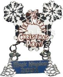 Mickey's Very Merry Christmas 2001 (#2) - Snowflake Dangle
