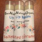 Organic Lip Balm Natural, Organic Chap stick Salted Caramel