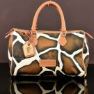 NEW! Dooney & Bourke M0349122 Giraffe Animal Print Classic Satchel Shoulder Bag