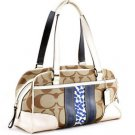 COACH F13074 SIGNATURE SCARF PRINT SATCHEL SHOULDER BAG